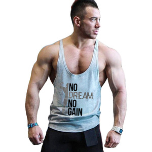 Summer Streetwear Tank Top for men Bodybuilding Gymwear Vest Cotton Sleeveless Clothing