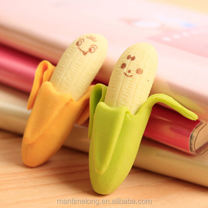 banana shaped eraser eraser pen rubber eraser