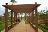 Easy installation and non-fade wpc garden arbour