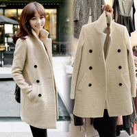 2019 factory price long fitted winter coat for women