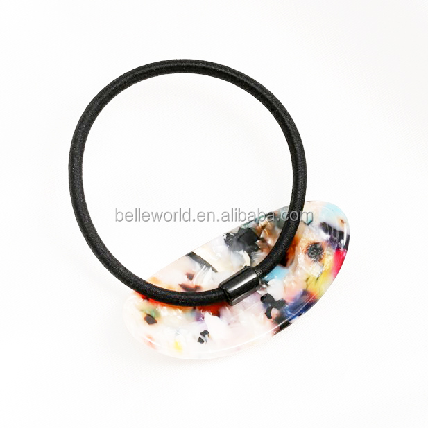 New design marbling pattern semicircle hair bands for Mature women