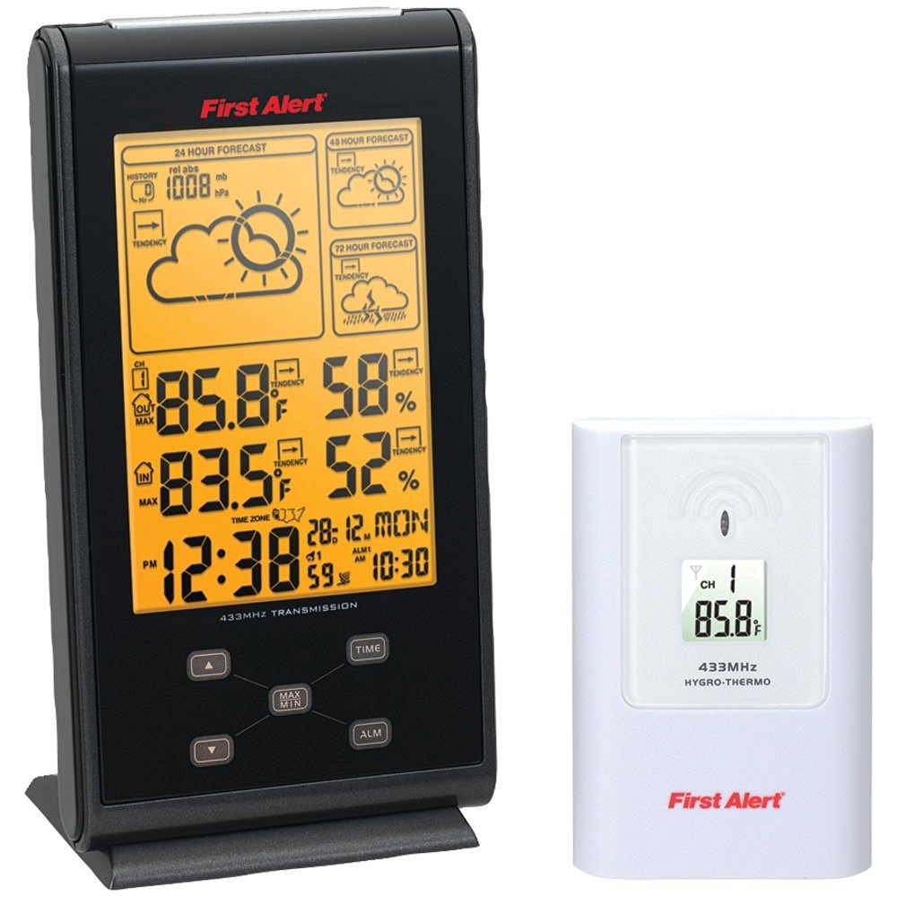 FIRST ALERT SFA2700 Radio-Controlled Wireless Weather Station Camping & hiking