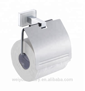 White glass square base wall mount paper towel holder of bathroom accessories set