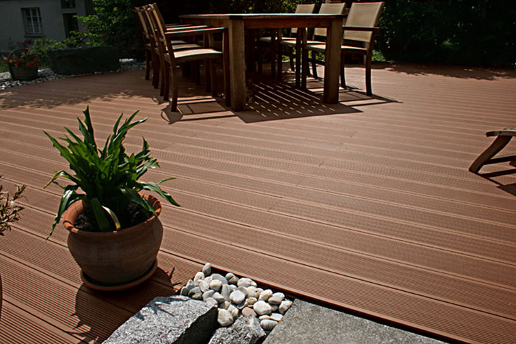 Wpc flooring plastic planks texture wood wpc decking for Hardwood outdoor decking