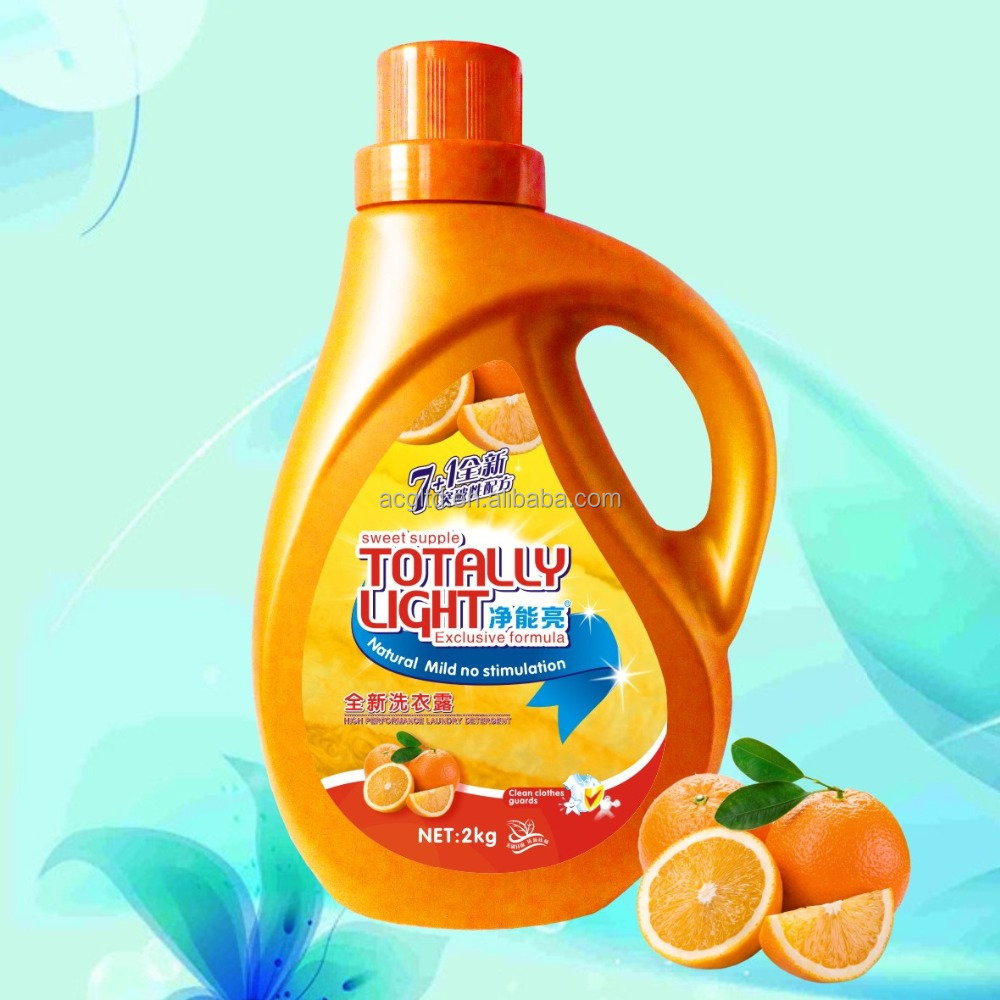 factory price Industrial Use Detergent and Laundry Liquids 2L PE Plastic Bottle