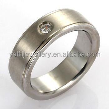 Fashionable One Stone Rings Designs Titanium Ringpiston Ring