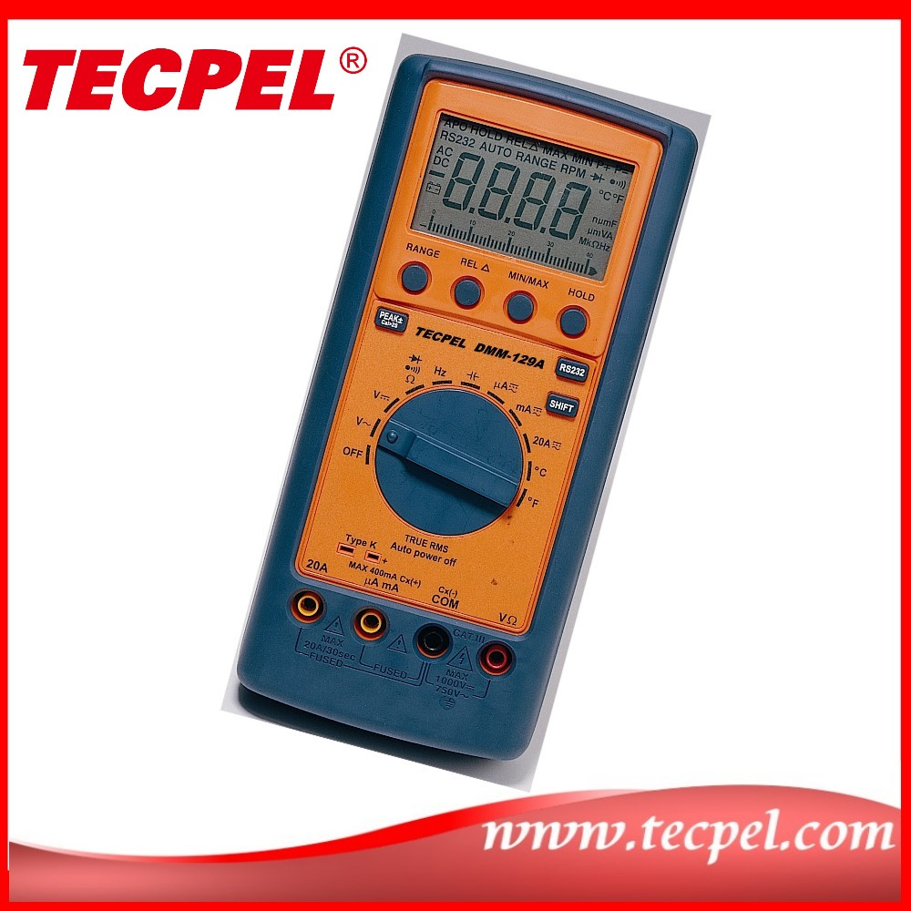 DMM-129A True RMS Digital Multimeter with temperature measurement
