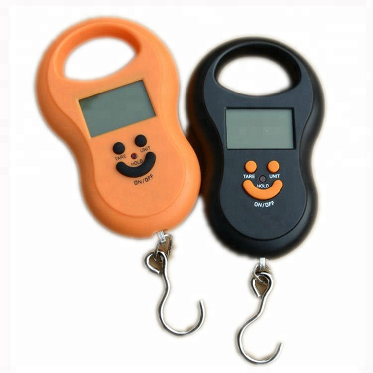 50kg//10g Portable LCD Digital Fish Hanging Luggage Weight Electronic Hook Scale