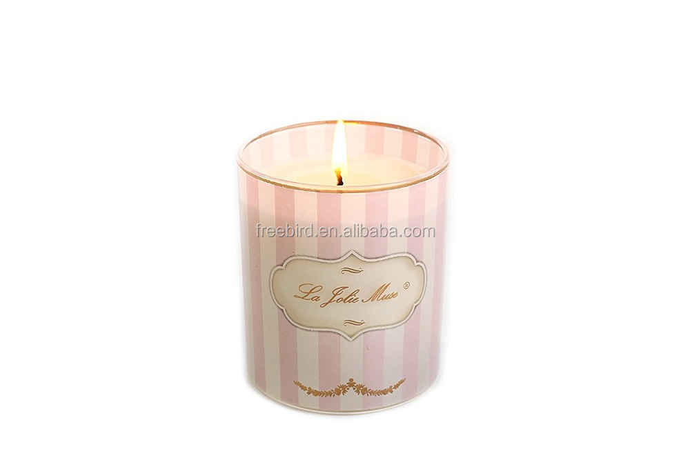 Decorative Aroma Craft Printed Jar Charming Candle