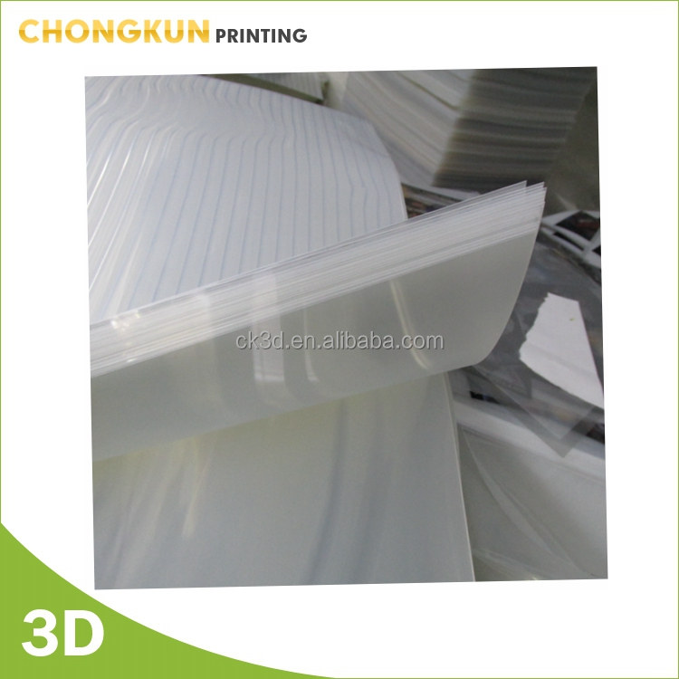 3d lenticular sheet for printing promotions gifts