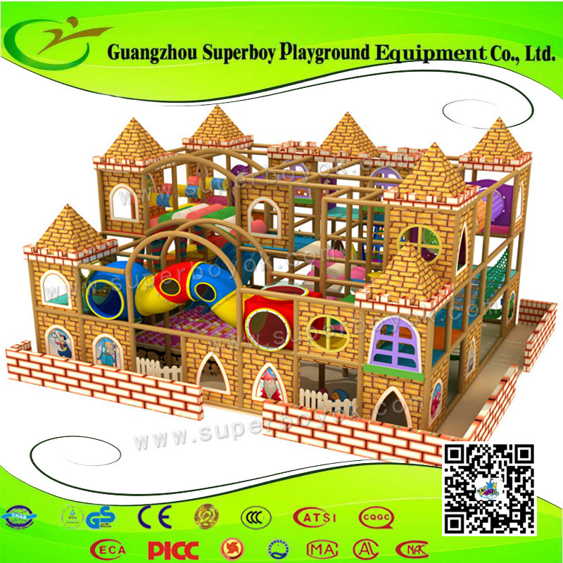 Factory Price! Child Adventure Style Plastic Children Commercial Indoor Playground Equipment 1411-28a