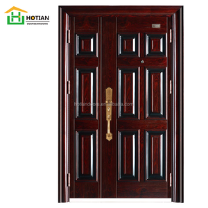Modern Design Metal 6 Panel One and Half Steel Door, Steel Mon and Son Door