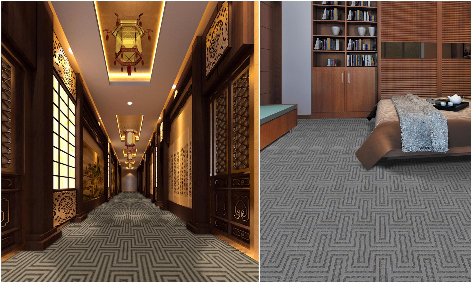 100% Polypropylene Stain Proof Tufted Carpet Floor From China