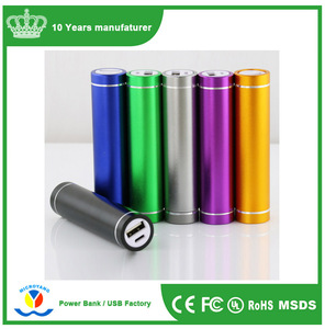 3000mAh Portable Power Bank With 18650 Battery/ 3000mAh Min Cylinder Portable OEM Mobile Power Charger With Free Sample
