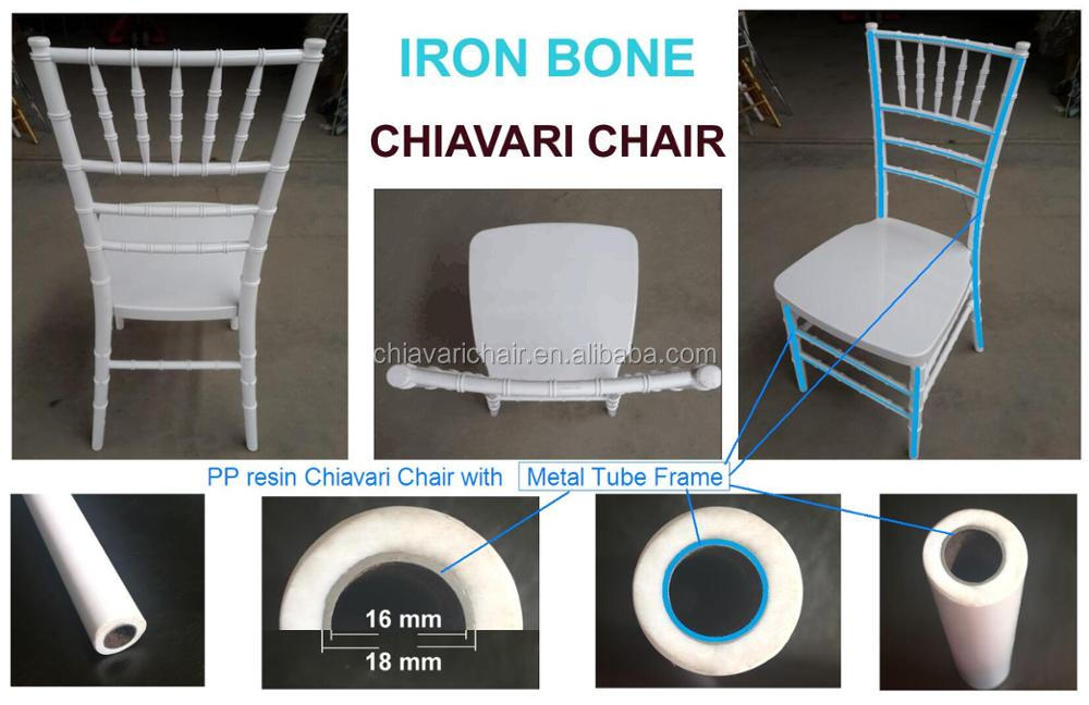 NEW Chiavari Chair IRONMAN Wedding Party Tiffany Chair Iron Bone Frame