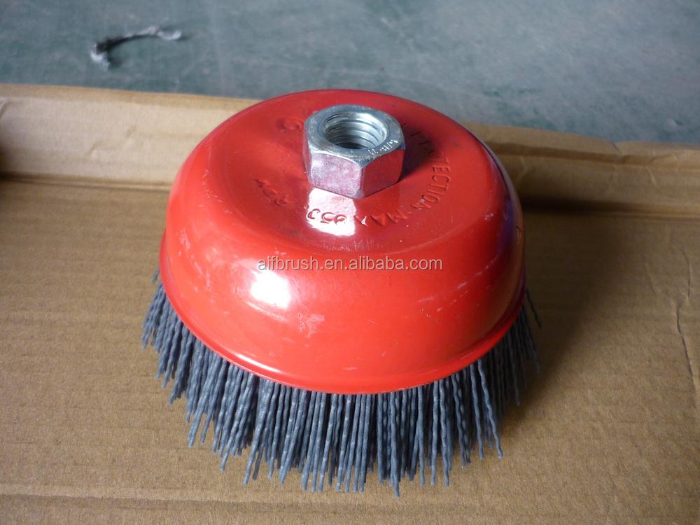 Nylon brosse pour meuleuse polir m tal et bois surface buy brosse en nylon pour grinder fil - Brosse metallique meuleuse ...