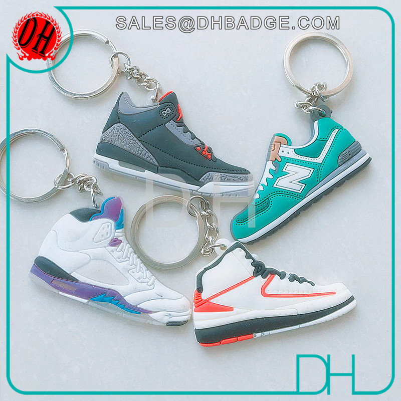 Cheap Mini Silicone air jordan sneaker 3d keychains