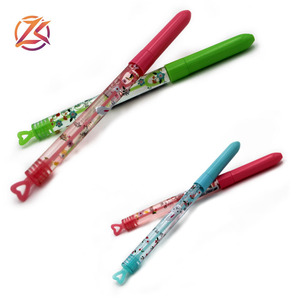 novelty kids stationery personalized promotional blowing bubble plastic ball pen