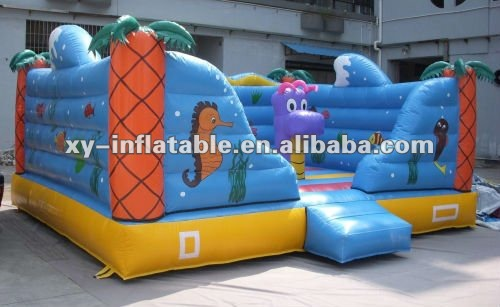 fun underwater world inflatable castle playground for childrens