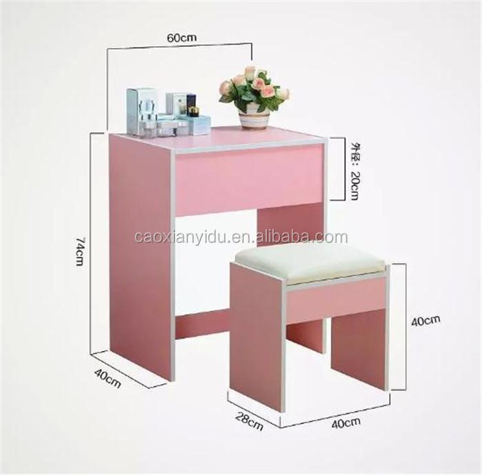Idee dressoir roze afbeeldingen : Mode Prinses Kaptafel Dressoir Set Voor Meisje Met Kruk Europese ...