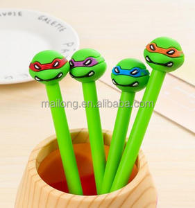 South Korea's creative students stationery teenage mutant ninja turtles pen black pen neutral pen 0.35 m PN3445