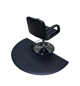 Customize logo PU foam wholesale barber salon floor anti-slip rubber chair mat