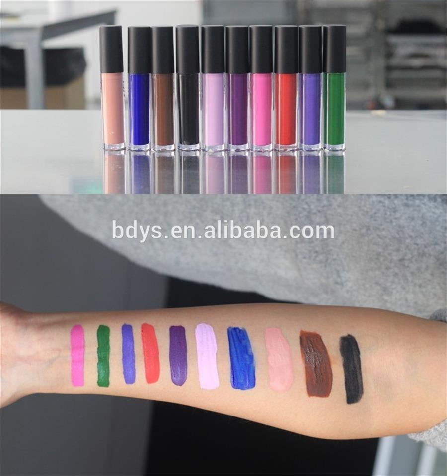 Best Selling Cosmetic Multicolor Lipstick Manufacturers Private Label Matte  Liquid Lipstick Color - Buy Lipstick Tube Labels,High Quality Liquid Matte