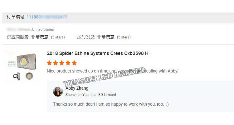 2700k 3000k 3500k 5000k Grow Light Glass Lens Customized