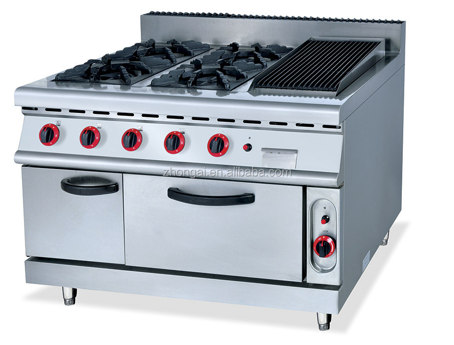 Restaurant Kitchen Oven hot selling commercial heavy duty gas range burners/gas oven