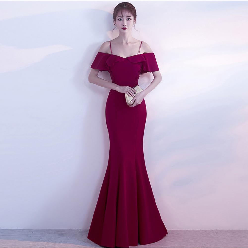 457102f2b68b Pavimento-lunghezza della sirena di disegno delle donne eleganti formale  abiti da sera lunghi 194620