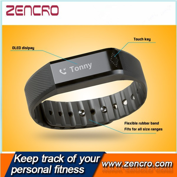 2015 OEM ODM Customized Logo Pedometer Waterproof 0.88 Inch OLED Display Fitness Band With Bluetooth Smart Sensor