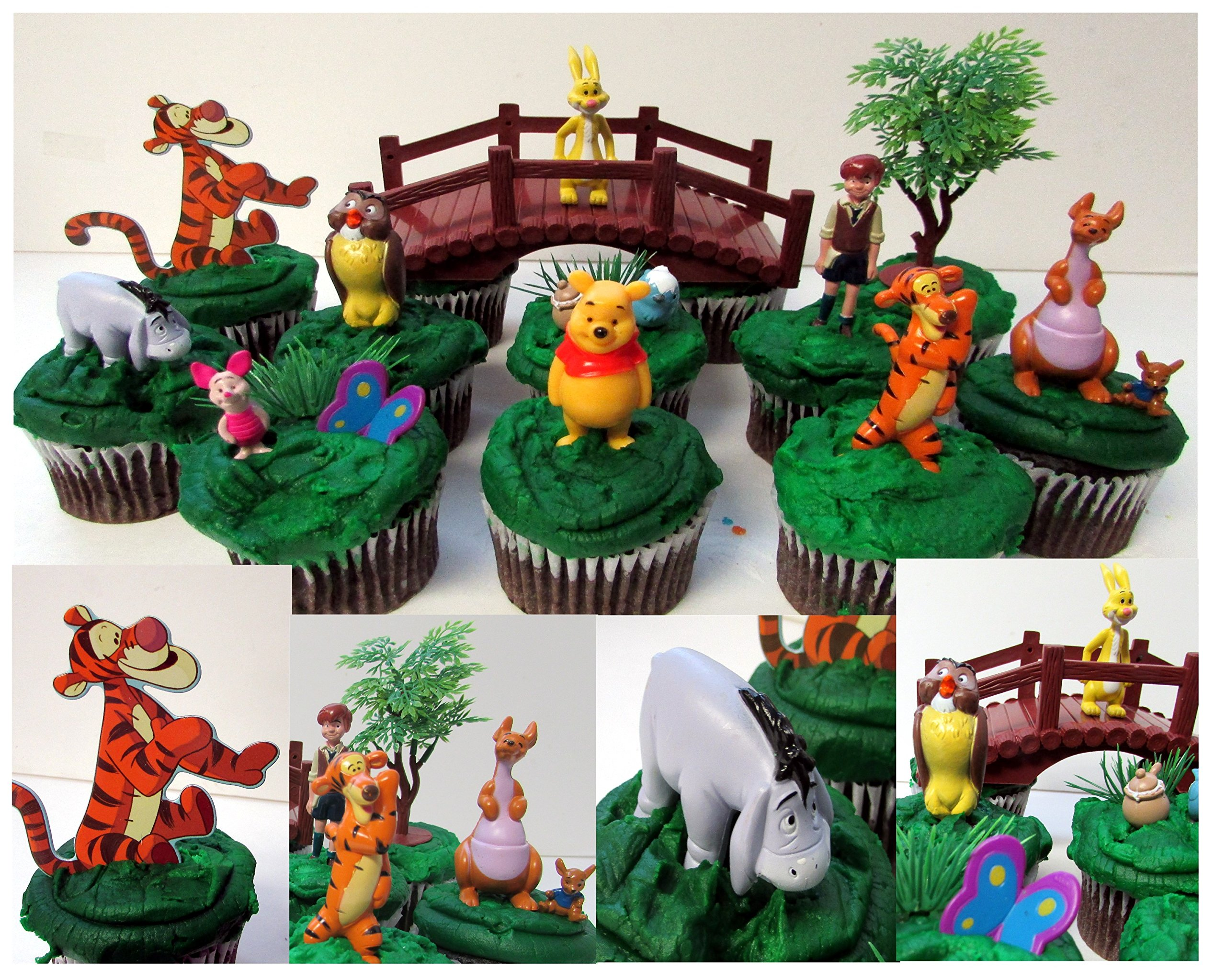 Get Quotations DISNEY WINNIE THE POOH 16 Piece Birthday CUPCAKE Topper Set Featuring Winnie The Pooh Piglet