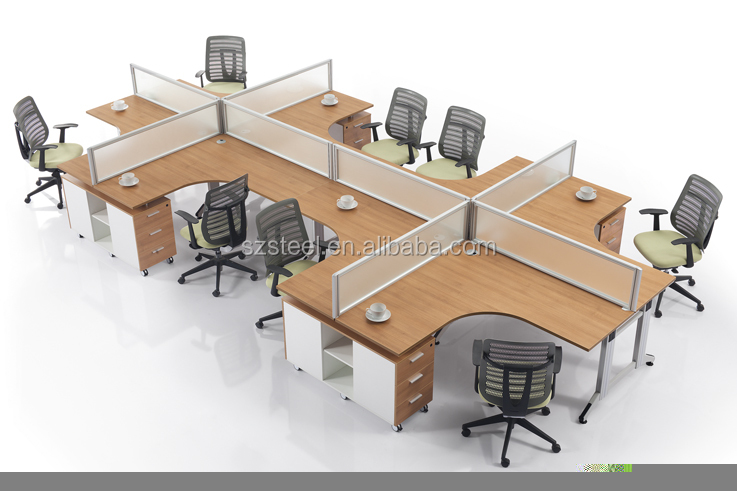 Call Center Workstation For 6 Peoples Long Table Workstations Product On Alibaba