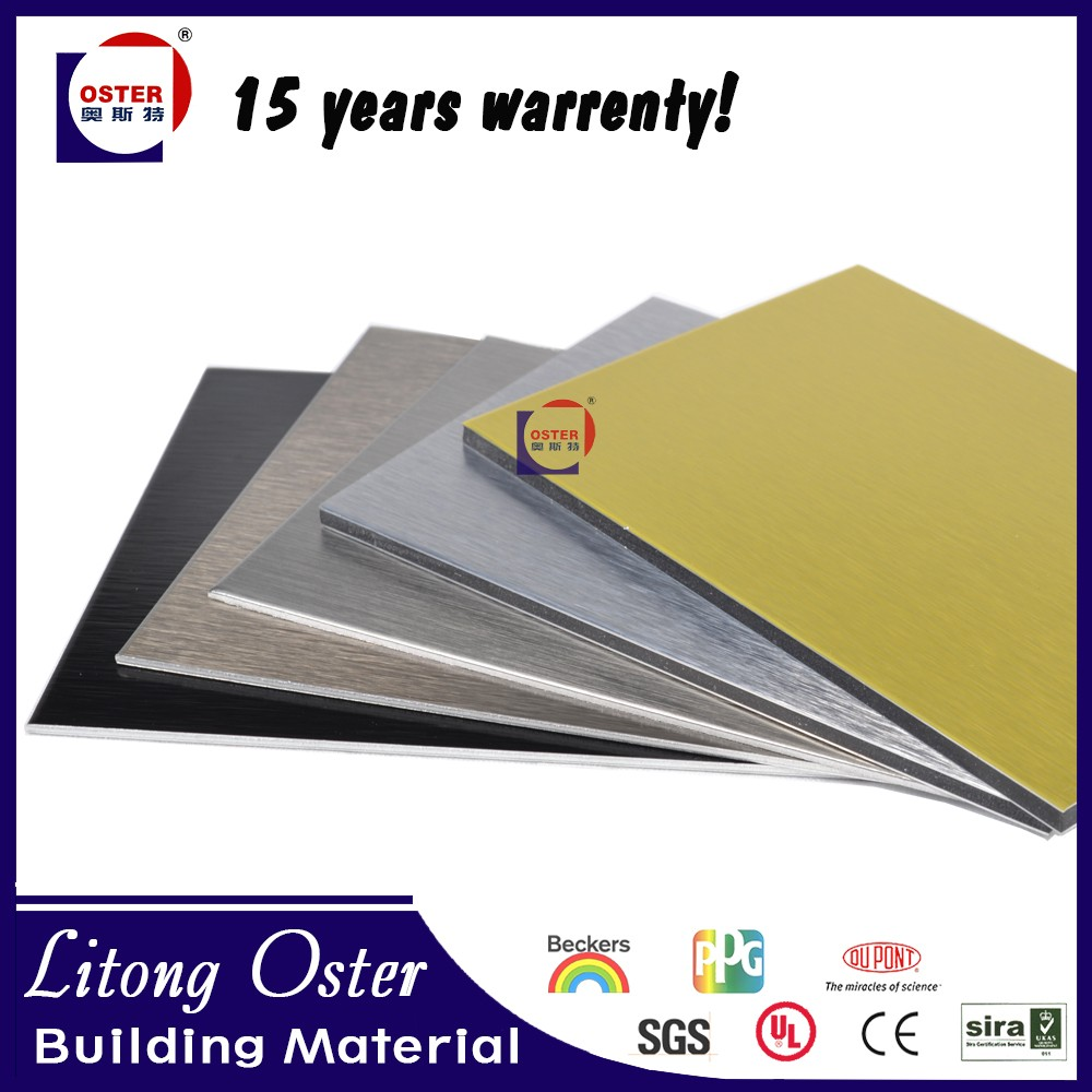 acp sheet manufacturers siver brush gold brush aluminium composite panel