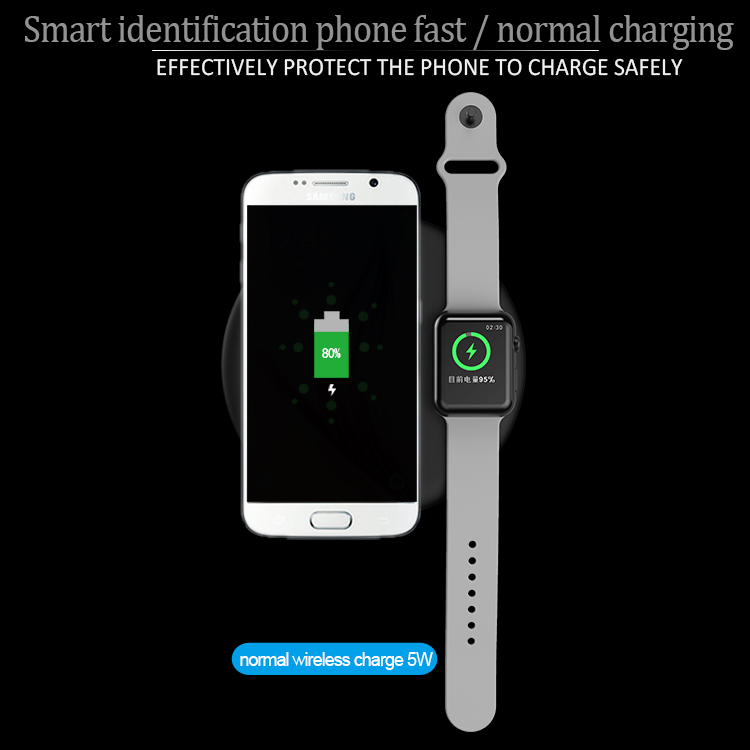 portable 2 in 1 pad wireless charger qi standard fast charging wireless charger mat