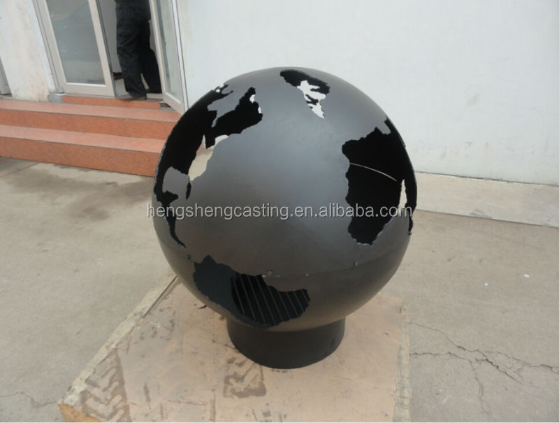 decorative steel globe fire pit buy steel fire pit. Black Bedroom Furniture Sets. Home Design Ideas