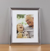 Frame de retrato do Metal, 8 por <span class=keywords><strong>10</strong></span> <span class=keywords><strong>polegadas</strong></span> photo frame, <span class=keywords><strong>moldura</strong></span> de prata Brilhante