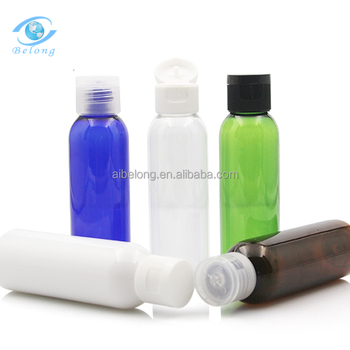 IBELONG 60ml Green Blue White Amber Clear round cosmetic pet lotion bottles manufacturer for facial cream