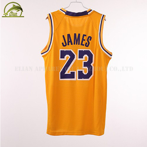 6b3cc0908 Custom Logo Tackle Twill Laker 23 James Jersey Basketball Jersey