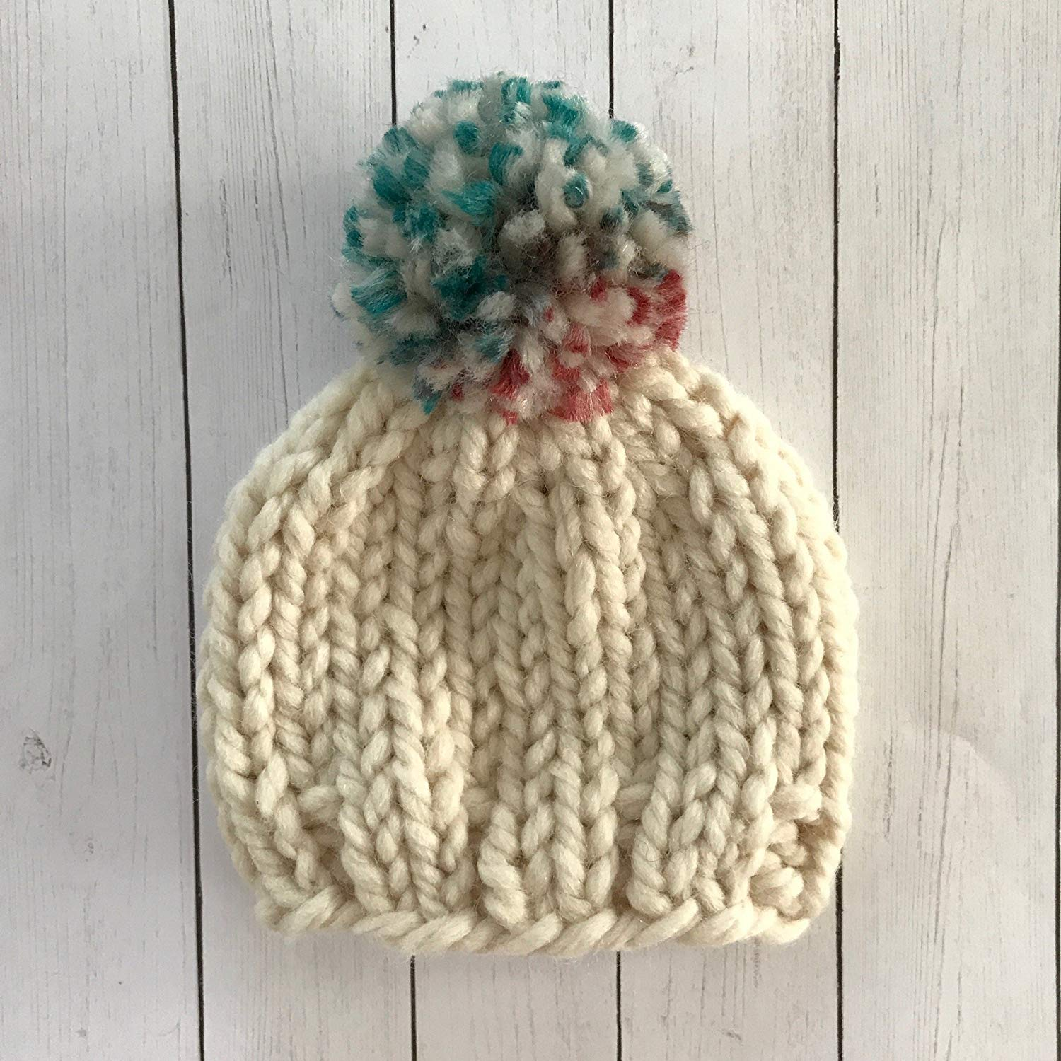 aa31ccdcf27 Get Quotations · Multi Colored Pompom Baby Beanie