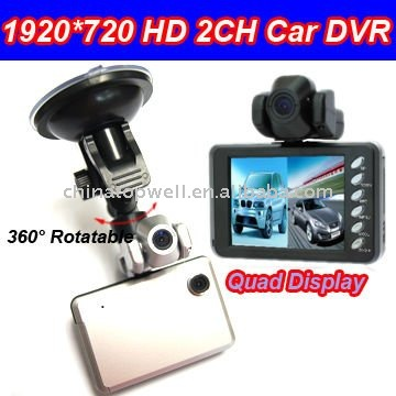 2011 Newest 120 Degree Wide Angle 2 CH Car Cam