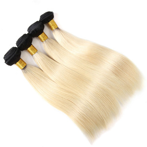 Blonde weft wavy hair weave european hair for braiding