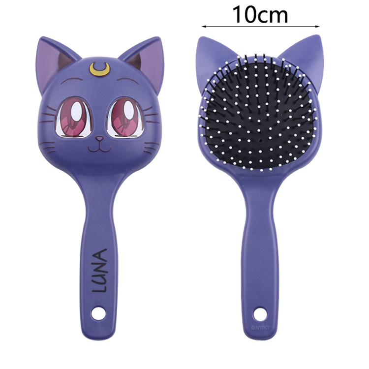 Cute Gift for Lady Girl Metal Hair <strong>Comb</strong> Luna Sailor Moon Makeup airbag hair <strong>comb</strong>