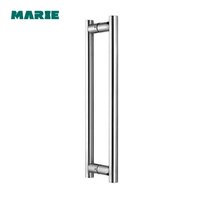 building hardware Stainless Steel glass door handle/ pull handle