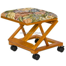 Adjustable Fold-A-Way Tapestry four wheels footrest for pedicure chair