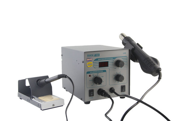 Quick 705 professional portable 2 in 1 esd rework soldering iron with stand