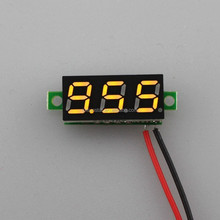 Mini Digital DC 3.5-30V Voltmeter Car Voltage Panel Meter Yellow LED 0.28 Inch Display for Motocycle Battery