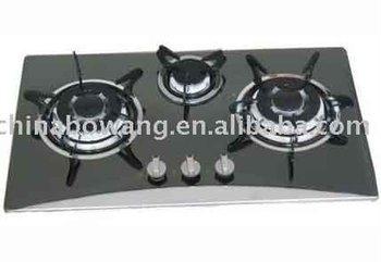 Costruito - A 3 Fuochi In Acciaio Inox Piano Cottura A Gas ( Bw3 ...