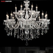 18 Arms Luxury crystal chandelier Fashion transparent crystal chandelier light  fashion crystal chandelier lighting