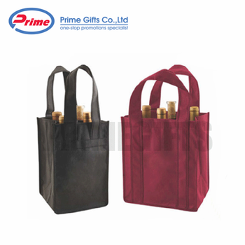 China Factory Wine Bottle Bag Custom Design Nonwoven Wine Gift Bag with Logo